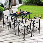 5pc Outdoor Patio Dining Table Bar Set Stools Chair Garden F