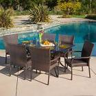 Outdoor Patio Furniture 7pc Vestavia Cast Aluminum Wicker Di