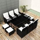 Patio Rattan Dining Set Garden Outdoor Furniture Table 6 Cha