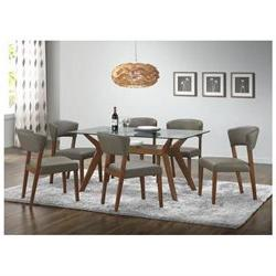 Paxton Dining Group Dining Table Nutmeg 122171, Note- Glass