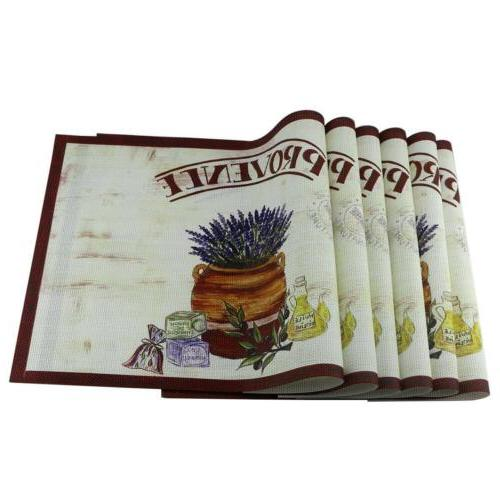 placemat pvc jacquard woven vinyl washable dining