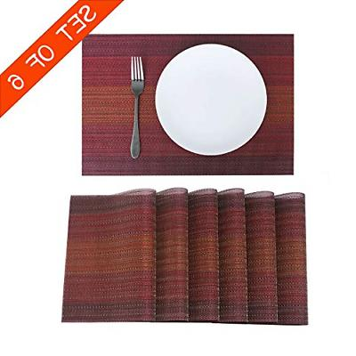 placemats for dining table set of 6