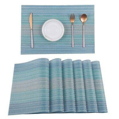 Pauwer 4 Dining Washable Woven Non-...