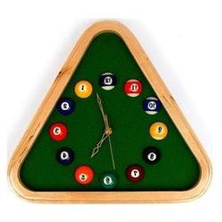 Trademark Poker 40-32400 Pool Rack Quartz Clock With Solid W