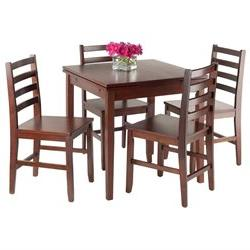Winsome Pulman 5-Piece Set Extension Table with Ladder Back