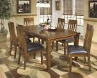Ashley Ralene Burnished Dark Brown 7 Pc Dining Table Side Ch