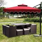 9PCS Rattan Patio Furniture Set Garden Dining Set Outdoor Cu