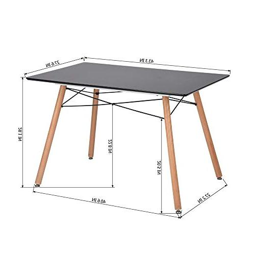 HOMY CASA Wooden Top Kitchen Table Multifunction
