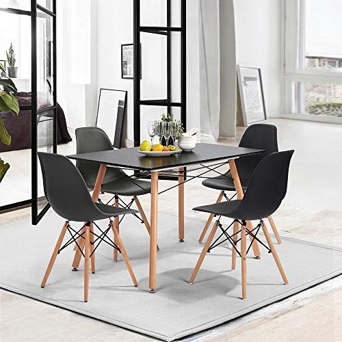 HOMY CASA Mid-Century Rectangle Wooden Top Table for Home,Office,Patio