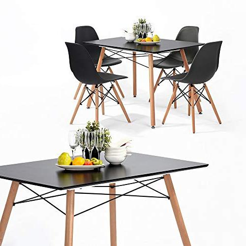 HOMY CASA Wooden Kitchen Dining Table Coffee Table for