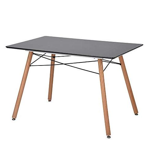 rectangle wooden feet dining table