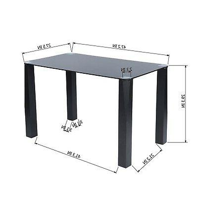 Homy Dining Table, Black