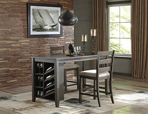 Signature by D397-32 Counter Height Dining Table Brown