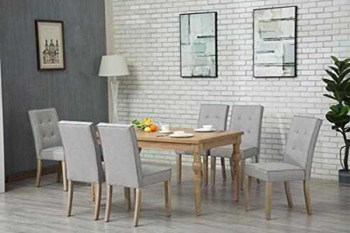 Oliver Collection - Dining - 6 Chairs Table Antique Washed 150262lightgrey