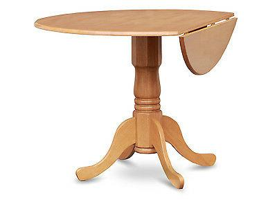 "42"" Round Dublin drop-leaf pedestal kitchen table without ch"