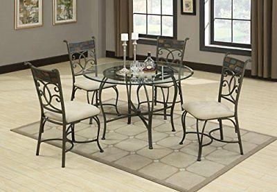 "Coaster Home Furnishings Round Glass Top with 1"" Bevel Clear"