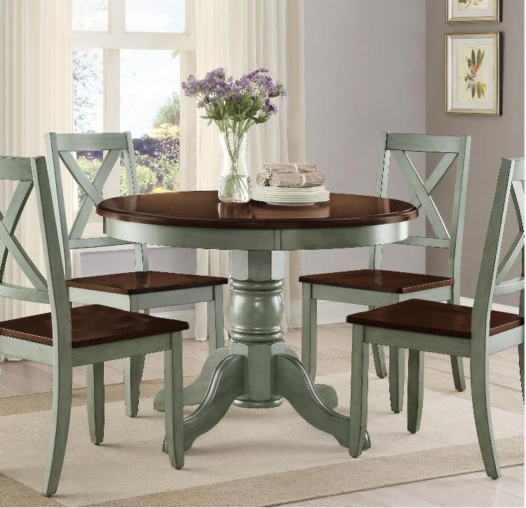 round pedestal dining table set 4 chairs