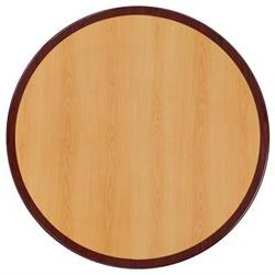 """Flash Furniture 24"""" Round Two-Tone Resin Cherry And Mahogany"""
