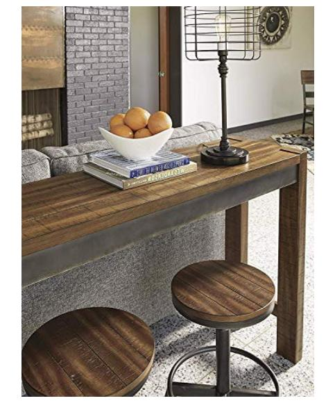 Rustic Height Dining Table Farmhouse Brown