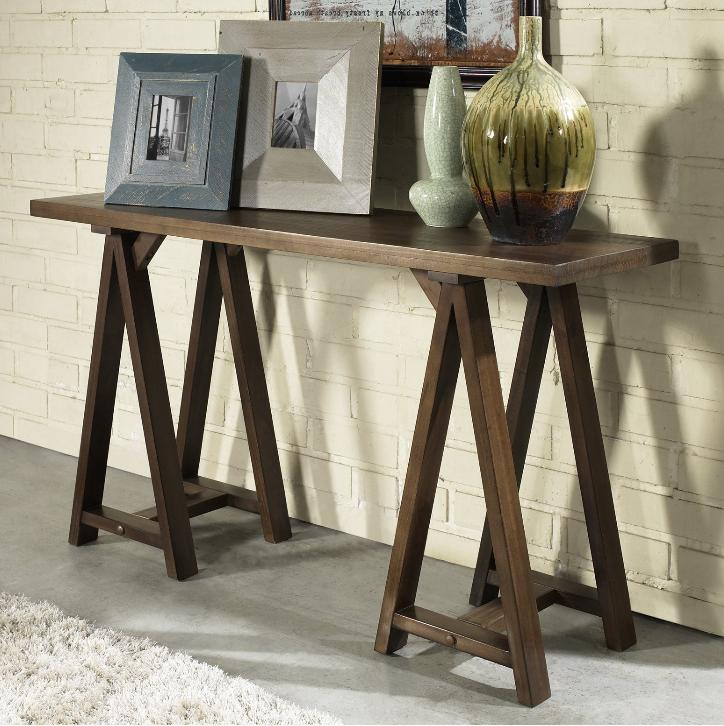 rustic counter height console dining table wood