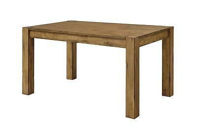 Rustic Solid Wood Dining Table Desk Block Leg Farmhouse Home