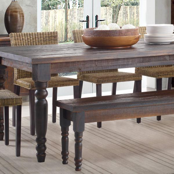 Rustic Dining Table Bench ONLY Farmhouse Kitchen Solid Wood