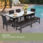 Saturn Rectangular Outdoor Patio Dining Table With 4 Chairs