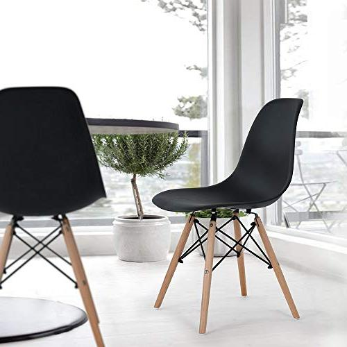 HOMY Round Table and Set of 4 Dining Eames Chair