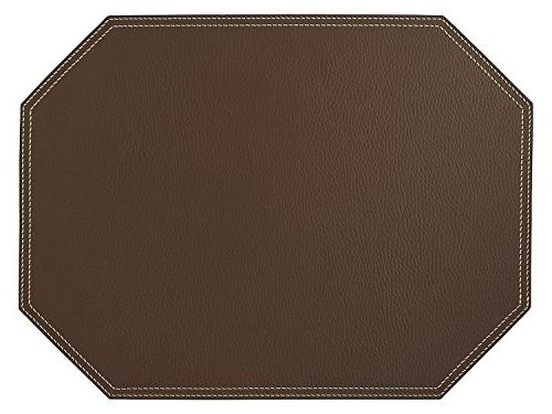 Nikalaz Brown Coasters, and 4 mats 18'' 13'' and 3.94'' x 3.94'', Table Made in Europe