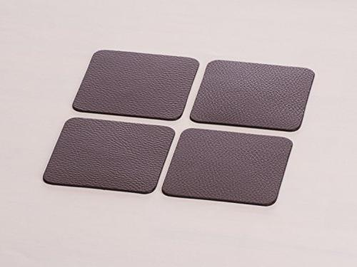 Nikalaz Set of Brown Placemats Table Mats Coasters, x 11.8 Coasters 3.9 x inches, Italian Dining