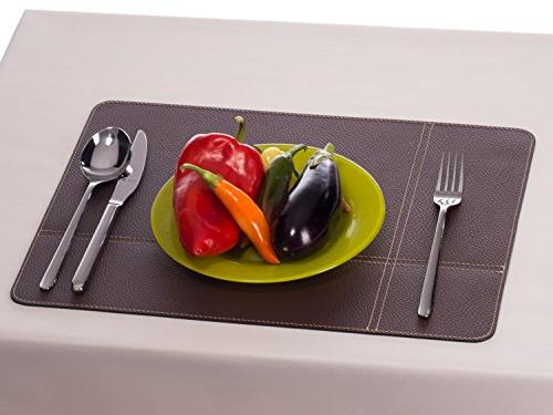 Nikalaz Set of Placemats Table and Coasters, Mats Coasters x inches, Italian Recycled Dining Table Set