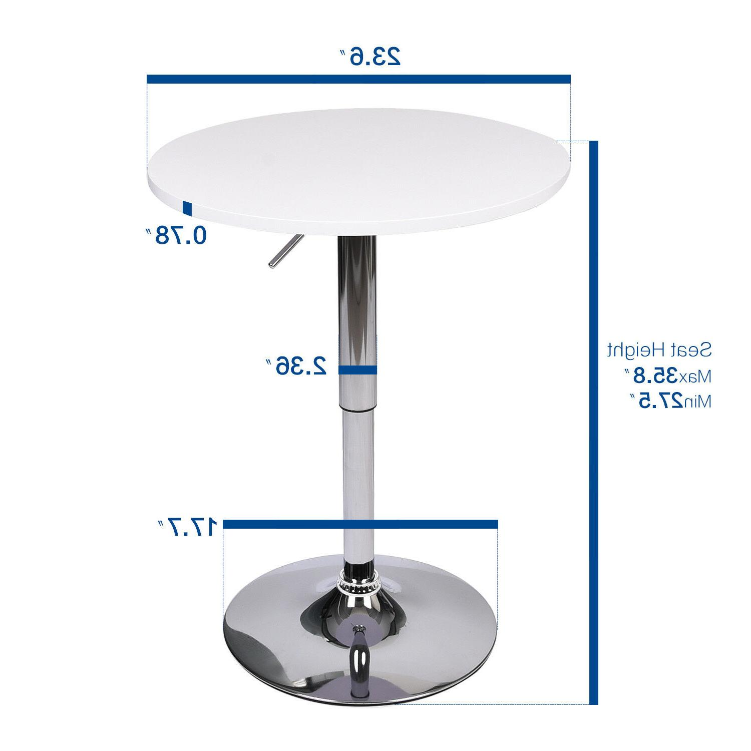3-Piece Bar Stools Adjustable Dining Chair Counter