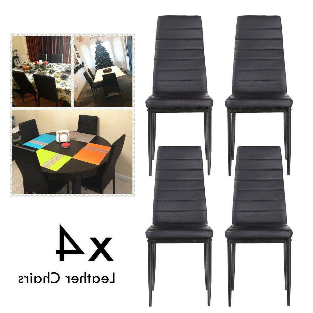 Set Chairs Leather Design+ Glass Home