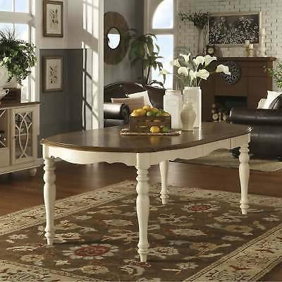 TRIBECCA HOME Shayne Country Antique Two-tone White Extendin