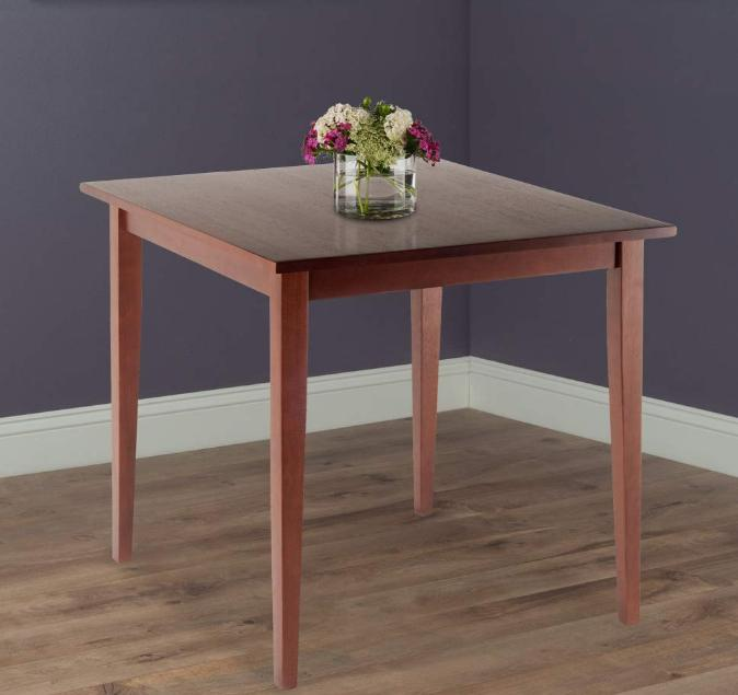 small kitchen dining tables wood espresso square