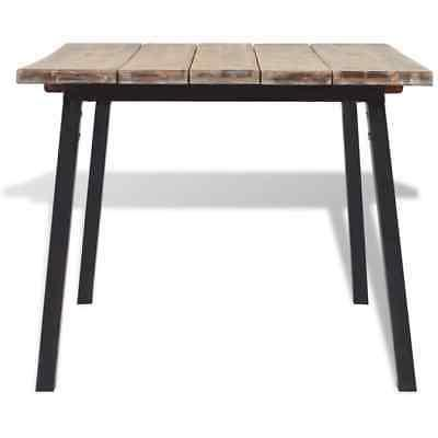 vidaXL Acacia Dining Brushed Tabletop with Legs