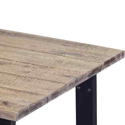 vidaXL Dining Table Brushed with Legs 66.9""