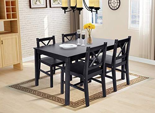 Merax Wood Dining Table with Kitchen Set 5