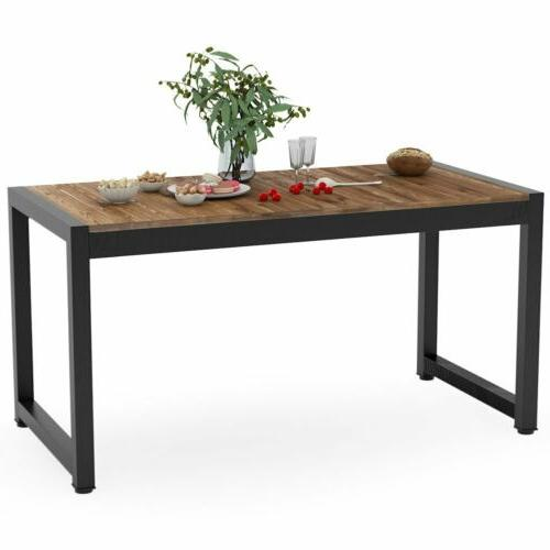 Tribesigns Solid Wood Table Dining Table Furniture