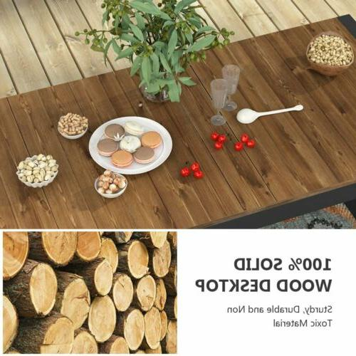 Tribesigns Wood Dining Table Home Furniture