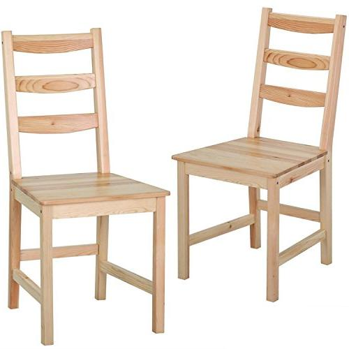 solid wood ladder back chair