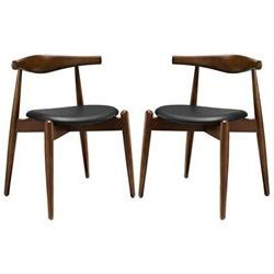 Stalwart Dining Side Chairs - Set of 2 by Modway Black