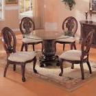 Coaster 101030 101032 Tabitha 5 Pc Round Dining Table Set In