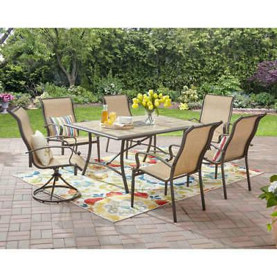 7 Piece Patio Dining Set Table Chairs Outdoor Garden Furnitu