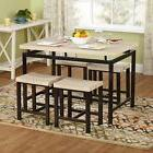 Dining Room Set Table Kitchen 4 Chairs Stools Small 5-Piece