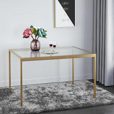 Mainstays Tempered Glass and Metal Dining Table, Small