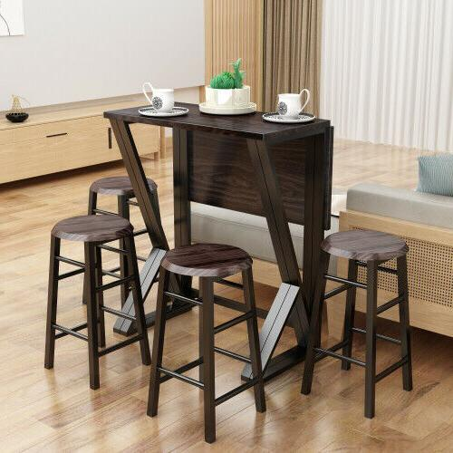 TOPMAX Dinette with 4 Chairs Bar