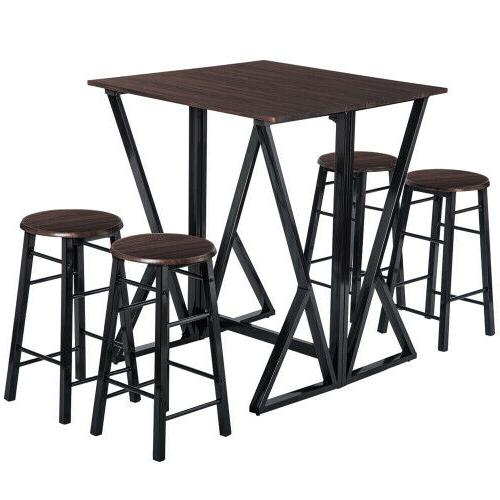 TOPMAX 5PCS Dining Set Dinette Chairs Bar
