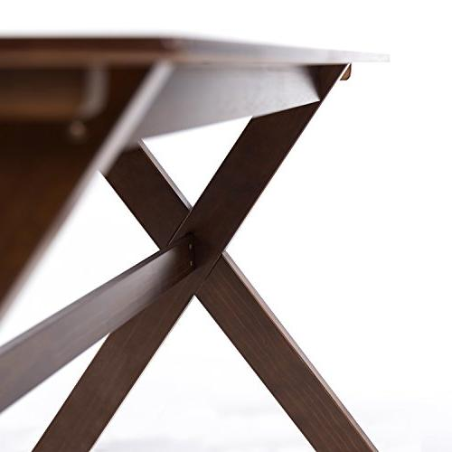 Zinus Trestle Large Dining Table / Espresso