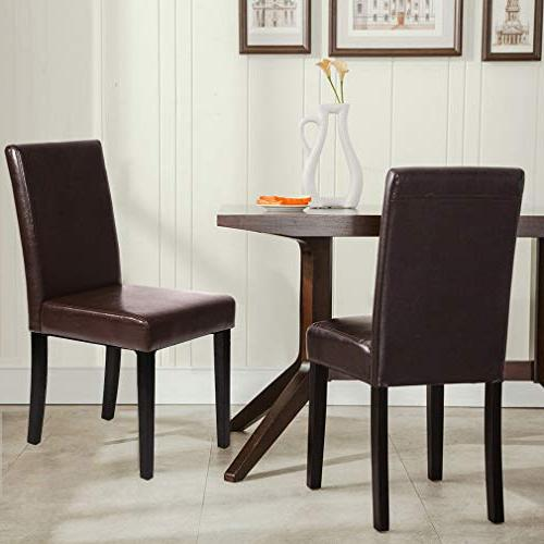 FDW of Urban Style Dining Chairs Solid Wood Legs Chair